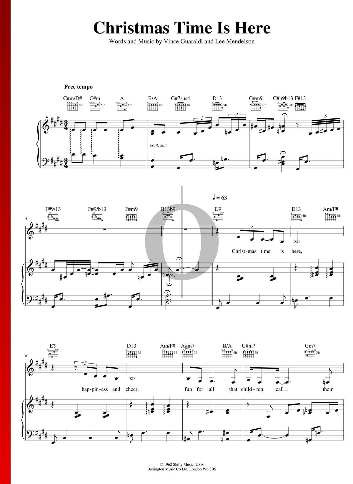 Christmas Time Is Here Sheet Music.Christmas Time Is Here Sheet Music Piano Voice Guitar