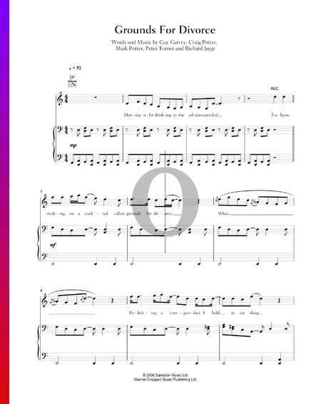 Grounds For Divorce Sheet Music