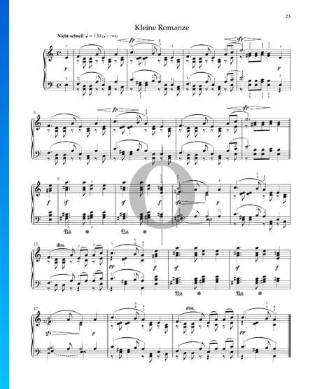 Pequeño romance, Op. 68 n.º 19 Partitura
