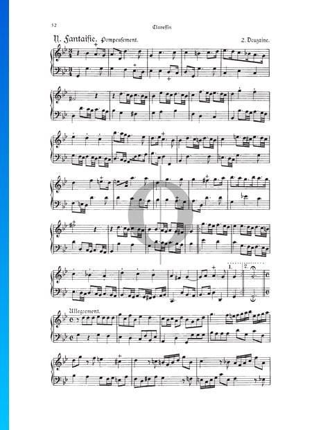 Fantasie, Douzaine II Nr.10: Pompeusement, TWV 33:23 Musik-Noten
