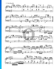 Suite inglesa n.º 1 en la mayor, BWV 806: 5. Sarabanda