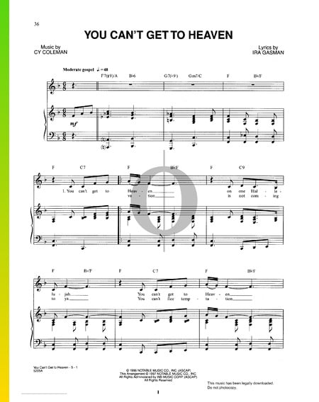 You Can't Get To Heaven Sheet Music