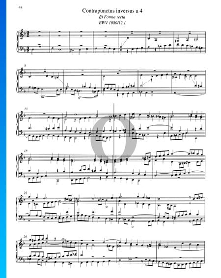 Contrapunctus 12, BWV 1080/12,1 Musik-Noten
