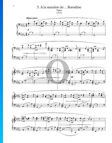 A la maniere de Borodine (Valse), M.63/1
