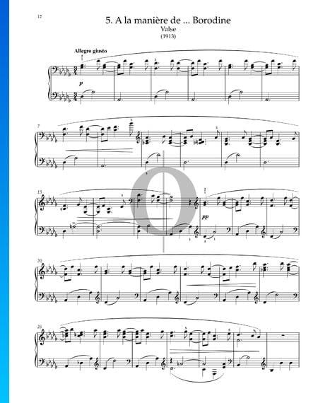 A la maniere de Borodine (Valse), M.63/1 Sheet Music