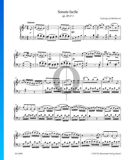 Sonate facile, Op. 49 No. 1: 1. Andante Partition