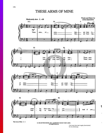 These Arms Of Mine Sheet Music