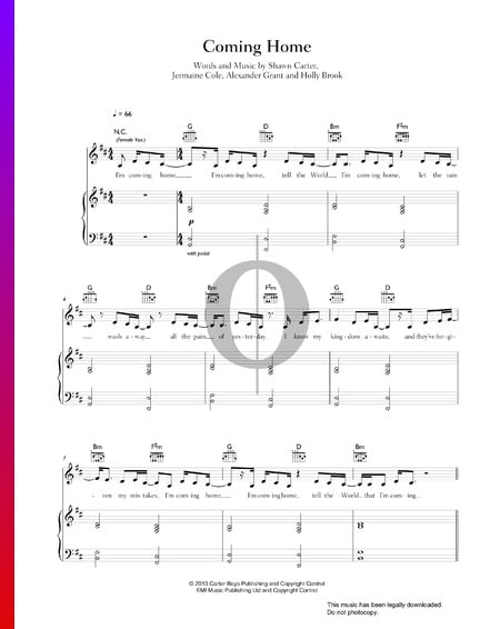Coming Home Sheet Music