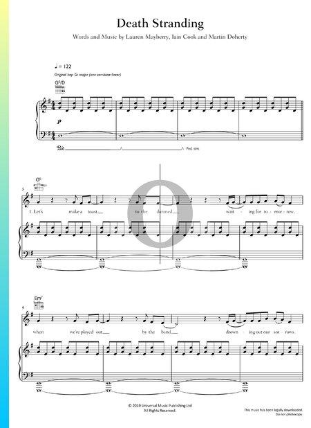 Death Stranding Musik-Noten