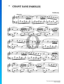 Souvenir de Hapsal, Op. 2: 3. Chant Sans Paroles