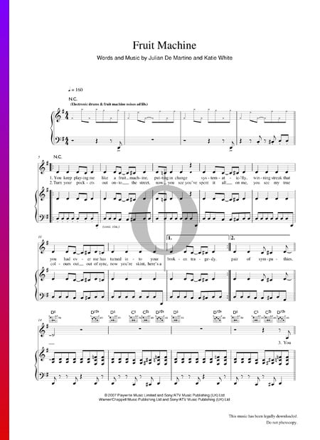 Fruit Machine Sheet Music