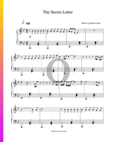 The Secret Letter Musik-Noten