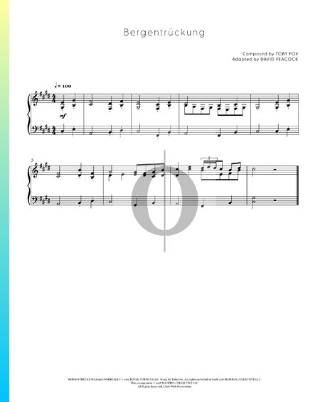 Bergentrückung Sheet Music