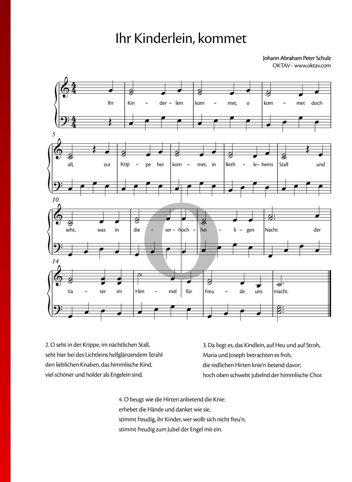 Weihnachtslieder Klavier Pdf.Ihr Kinderlein Kommet Noten Piano Gesang Pdf Download