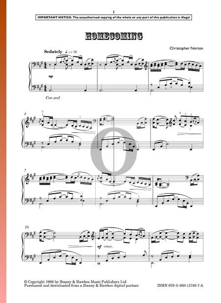 Homecoming Musik-Noten