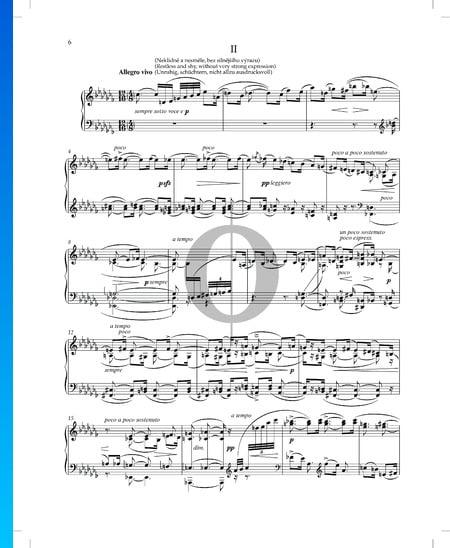 Cosas vividas y soñadas (Životem a snem), Op. 30 n.º 2 Partitura