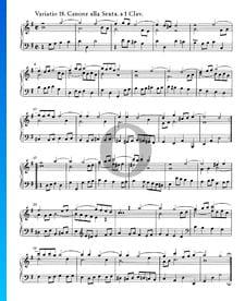 Variaciones Goldberg, BWV 988: Variación 18. Canone alla Sexta. a 1 clave