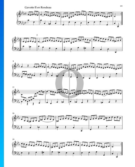 Suite in C Minor, BWV 1011: 6. Gavotte II en Rondeau Sheet Music
