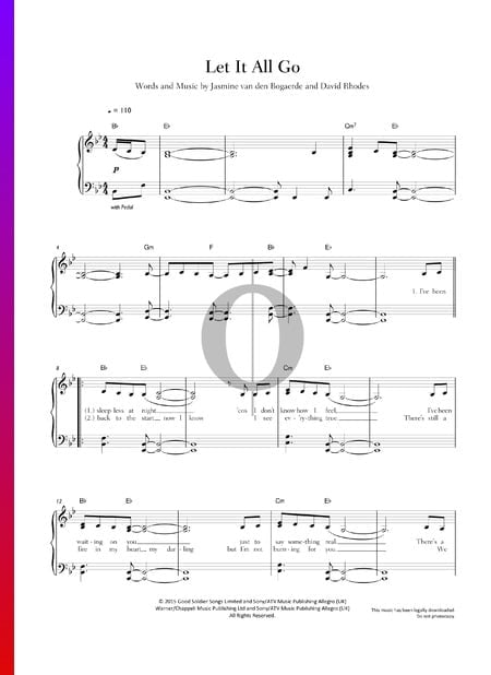 Let It All Go Sheet Music