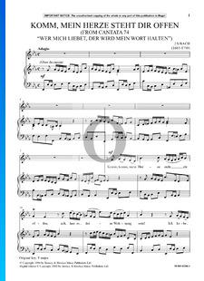 Wer mich liebet, der wird mein Wort halten, BWV 74: No 2. Komm, mein Herze steht dir offen