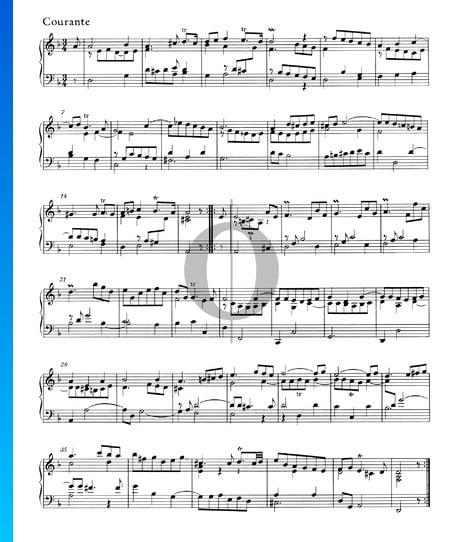 Suite en re menor, HWV 447: 2. Courante Partitura