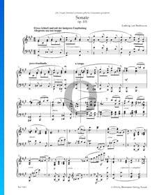 Sonata en la mayor, Op. 101: 1. Allegretto ma non troppo