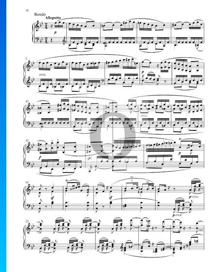 Grande Sonate in B-Dur, Op. 22 Nr. 11: 4. Rondo Musik-Noten