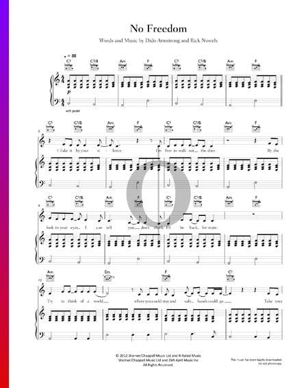 No Freedom Musik-Noten