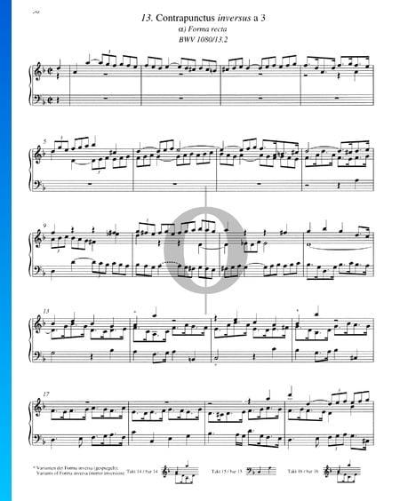 Contrapunctus 13, BWV 1080/13, 2 Musik-Noten