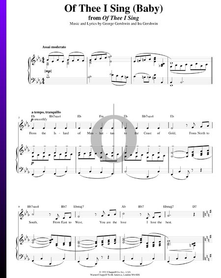 Of Thee I Sing Sheet Music