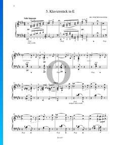 Pièce pour Piano en Mi Majeur, S. 192