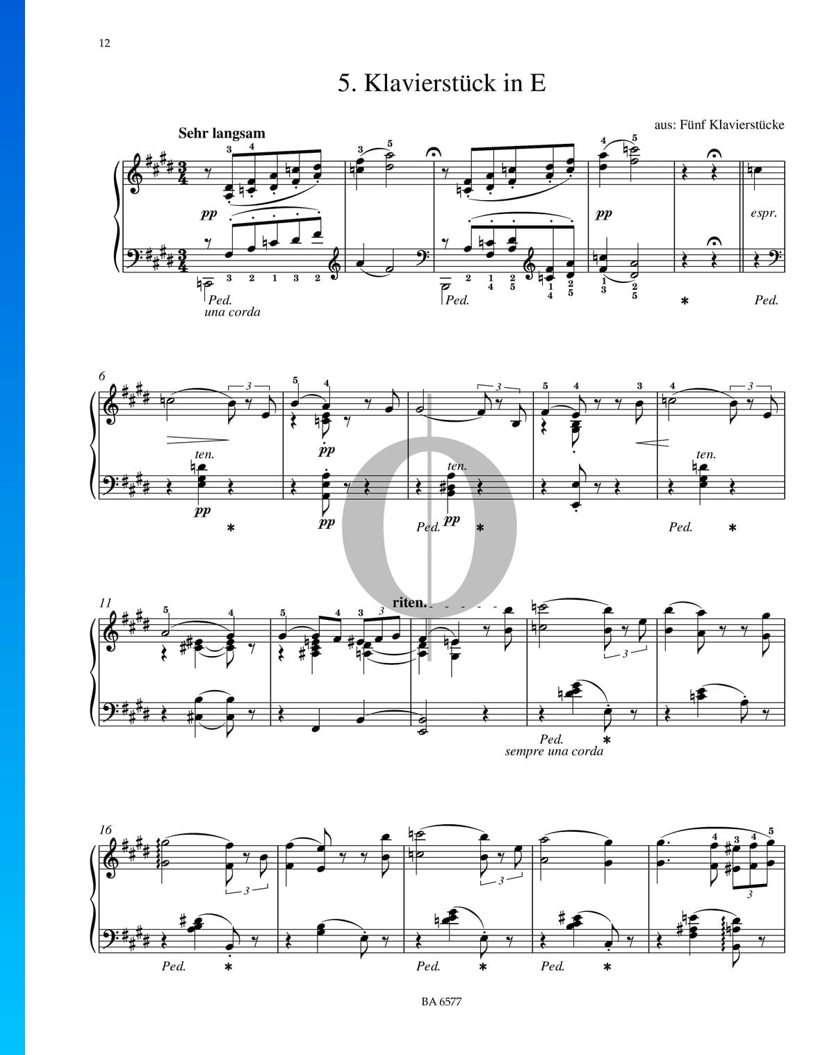 ▷ Piano Piece in E Major, S  192 Sheet Music (Piano Solo
