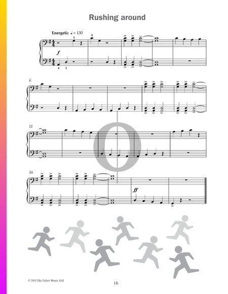 Rushing around Partitura
