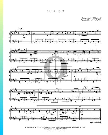 Vs. Lancer Sheet Music