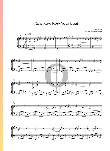 Row Row Row Your Boat Musik-Noten