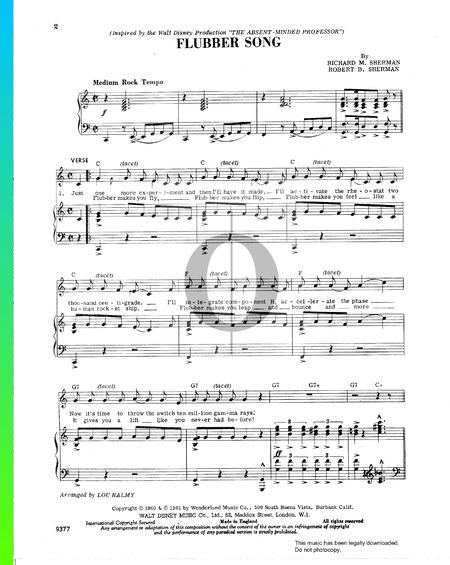 Flubber Song Musik-Noten