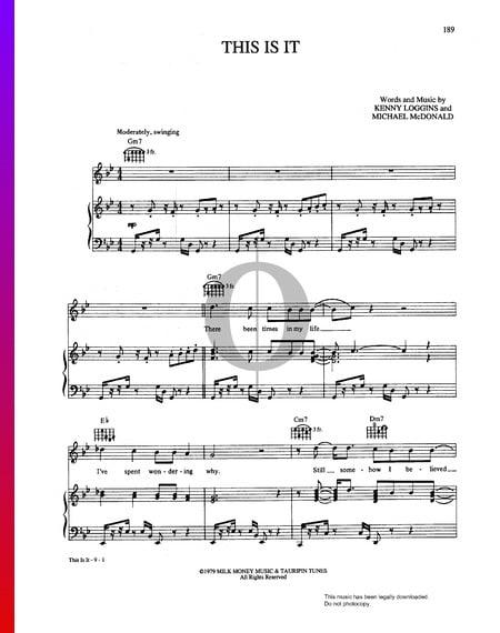 This Is It Musik-Noten