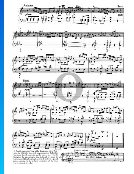 Sonate Nr. 1, Wq 48: 2. Andante Musik-Noten