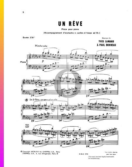 Un Rêve Sheet Music