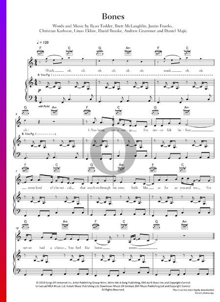 Bones Musik-Noten