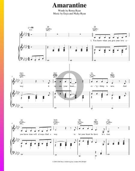 Amarantine Musik-Noten