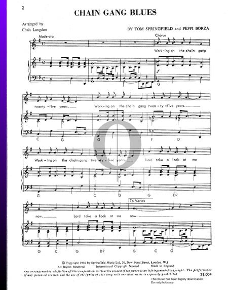 Chain Gang Blues Sheet Music