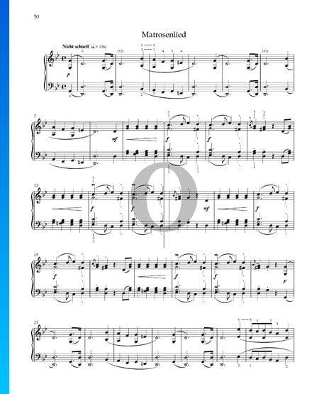 Matrosenlied, Op. 68 Nr. 37 Musik-Noten