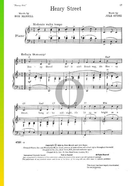 Henry Street Musik-Noten