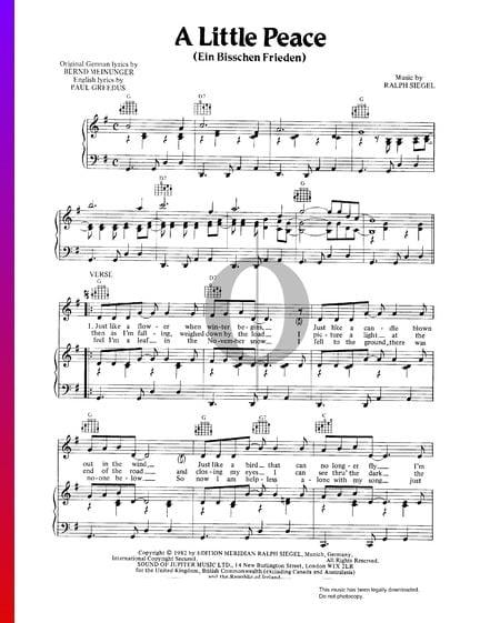 Ein bisschen Frieden Musik-Noten