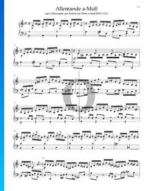 Allemande en La mineur de la Partita pour Flûte, BWV 1013