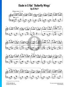 """Étude en G-flat Major, Op. 25 No. 9 (""""Butterfly Wings"""")"""
