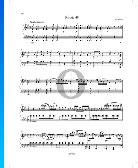 Sonata in B-flat Major, P. XII: 43: 1. Adagio maestoso Sheet Music