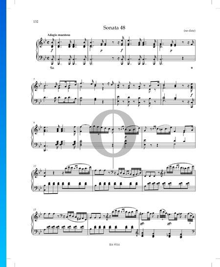 Sonate B-Dur, P. XII: 43: 1. Adagio maestoso Musik-Noten