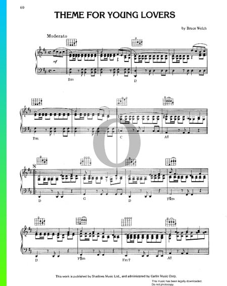 Theme For Young Lovers Sheet Music